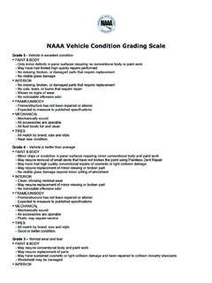 NAAA Vehicle Condition Grading Scale