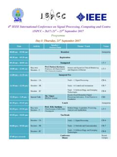 IEEE International Conference on Signal Processing ...