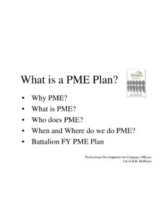 What is a PME Plan? - 2ndbn5thmar.com