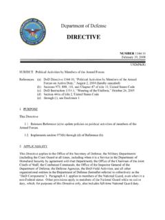 DoD Directive 1344.10, February 19, 2008 -- …