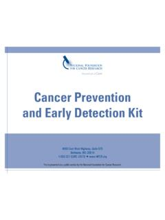 Cancer Prevention and Early Detection Kit - NFCR