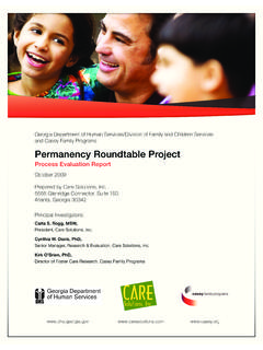 Permanency Roundtable Project - Casey Family Programs