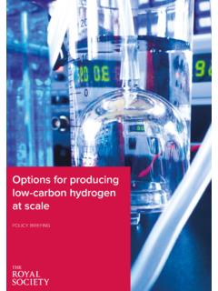 Options for producing low-carbon hydrogen at scale: Policy ...