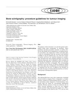 Bone scintigraphy: procedure guidelines for tumour imaging