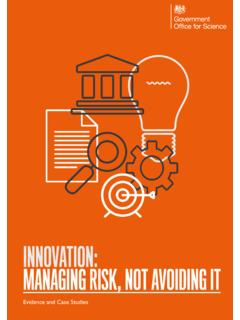 Innovation: managing risk, not avoiding it