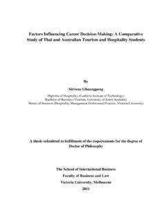 Factors Influencing Career Decision-Making: A Comparative ...