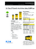 Bussmann series UL Class CF CUBEFuse data sheet no. 9000