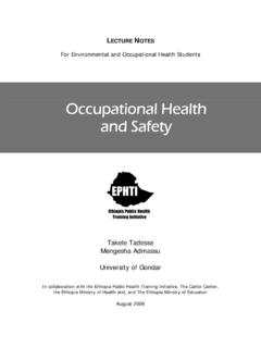 Occupational Health and Safety - Carter Center