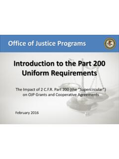 Introduction to the Part 200 Uniform Requirements