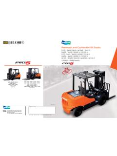 Pneumatic and Cushion Forklift Trucks