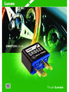 SWITCHGEAR - Lucas Electrical | Automotive Aftermarket ...