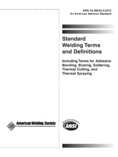 Standard WeldingTerms and Definitions - AWS Bookstore