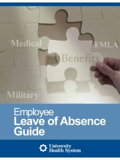 Employee Leave of Absence Guide - UT Health San …