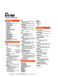 JLG G12-55A Specifications - One Source Rental