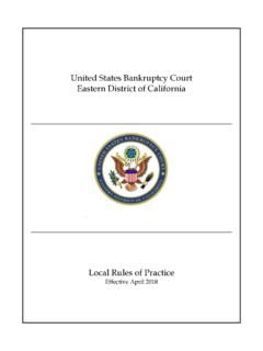 United States Bankruptcy Court Eastern District of California