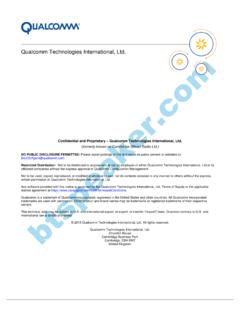 Qualcomm Technologies International, Ltd. - tinyosshop.com