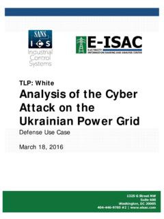 TLP: White Analysis of the Cyber Attack on the …