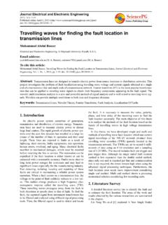 Travelling waves for finding the fault location in ...