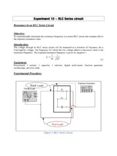 Experiment 10 ~ RLC Series circuit