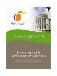 eSource Supplier Guide - Georgia Department of ...