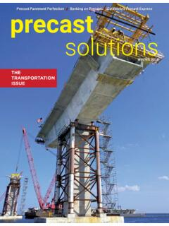 THE TRANSPORTATION ISSUE - Precast concrete