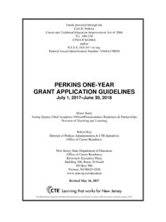 PERKINS ONE-YEAR GRANT APPLICATION …