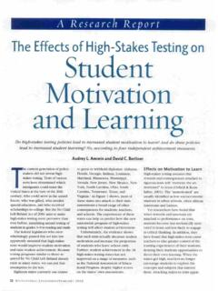 The Effects of High-Stakes Testing on Student Motivation ...