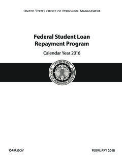 Federal Student Loan Repayment Program - opm.gov