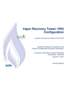 Vapor Recovery Tower/ VRU Configuration - US EPA