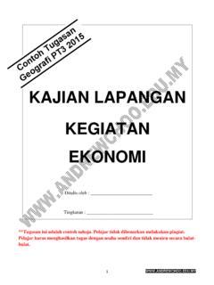 Kajian Lapangan Kegiatan Ekonomi Kajian Lapangan Kegiatan Ekonomi Pdf Pdf4pro
