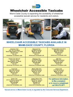Wheelchair Accessible Taxicabs - Miami International …