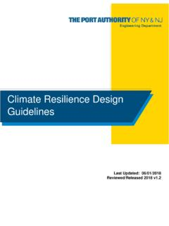 Climate Resilience Design Guidelines - Port Authority of ...
