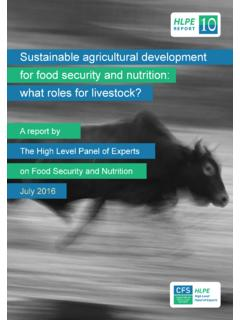 Sustainable agricultural development for food security …