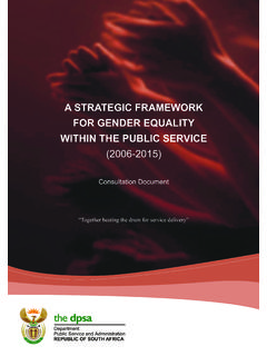 A STRATEGIC FRAMEWORK FOR GENDER EQUALITY …