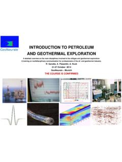 INTRODUCTION TO PETROLEUM GeoNeurale AND …