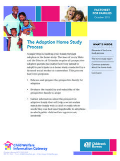 The Adoption Home Study Process - Child Welfare