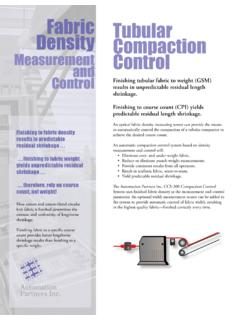 Fabric Tubular Density Compaction Control and Control ...