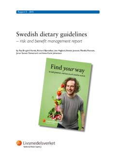 Swedish dietary guidelines - Food and Agriculture ...