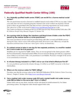 Federally Qualified Health Center Billing (100) Questions ...