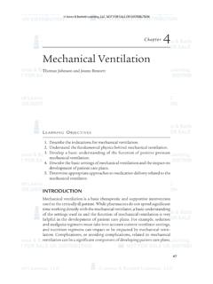 Mechanical Ventilation - Jones & Bartlett Learning