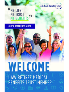 WELCOME TO THE UAW RETIREE MEDICAL BENEFITS TRUST