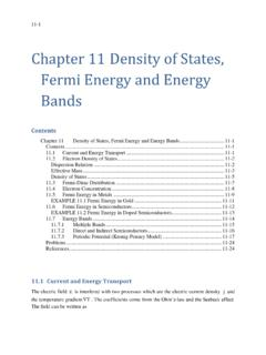 Chapter 11 Density of States, Fermi Energy and Energy Bands