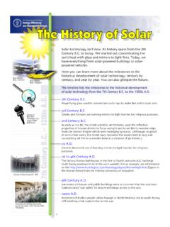 The History of Solar - US Department of Energy