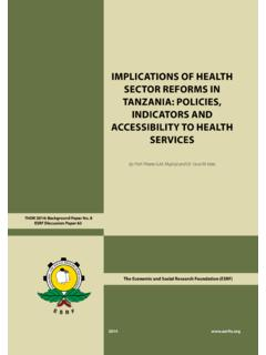 IMPLICATIONS OF HEALTH SECTOR REFORMS IN …