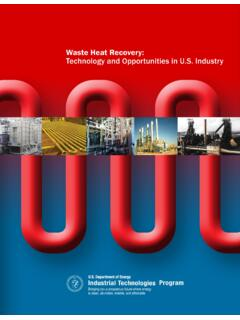 Waste Heat Recovery - US Department of Energy