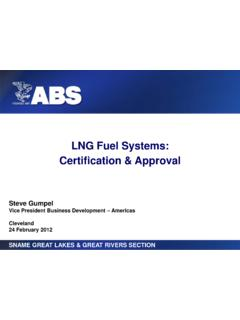 LNG Fuel Systems: Certification & Approval