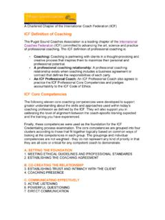 ICF Competencies & Coaching Definition
