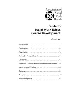 Guide to Social Work Ethics Course Development - ASWB