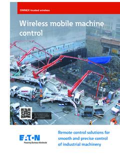 Wireless mobile machine control - Cooper Industries