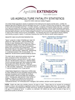 US AGRICULTURE FATALITY STATISTICS